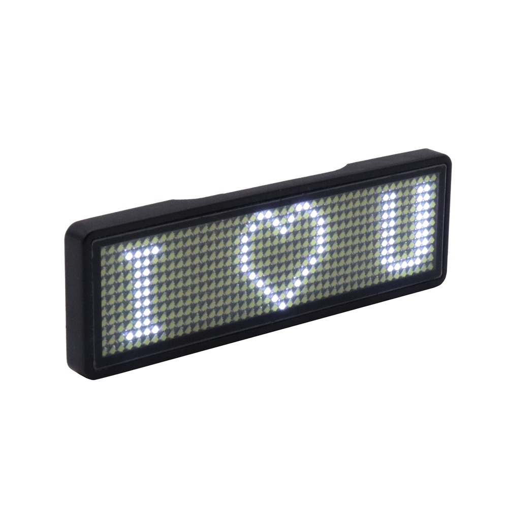 Flashing LED Badge Programmable Computer Change Message Scrolling Running Text LED Display LED Gift For Party Organization Show