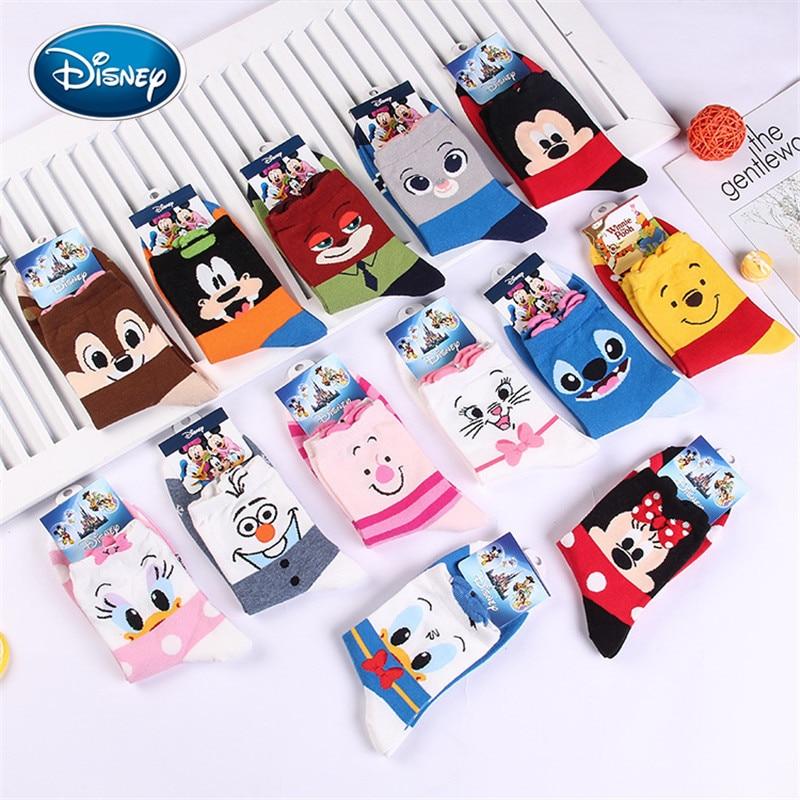 Disney Cartoon Socks Donald Duck Mickey Tube Socks Ladies Cartoon Cotton Socks Cute Girl Socks