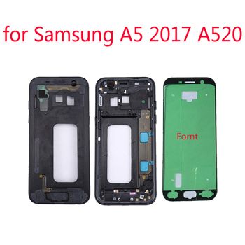 For Samsung Galaxy A5 2017 A520 A520F Original Phone New Metal Housing Middle Frame House Chassis Center Body With Keys + Glue 1
