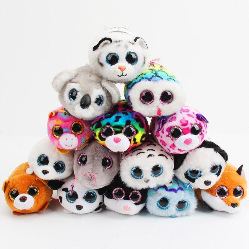 Ty-peluches grandes ojos lindos para niños y niñas, juguetes de peluche para teléfono móvil, ratón, unicornio, unicornio, búho, regalo de cumpleaños