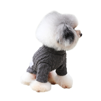 Pet Dog Cat Sweater Knitwear Autumn Winter Warm Turtleneck Sweater Puppy Cat Costume Clothes Small Medium Dogs Chihuahua Vest image