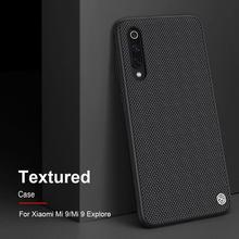 Z włókna nylonowego teksturowane przypadku smartfonów dla Xiaomi Mi 9, oryginalny NILLKIN styl bussiness etui na telefon komórkowy
