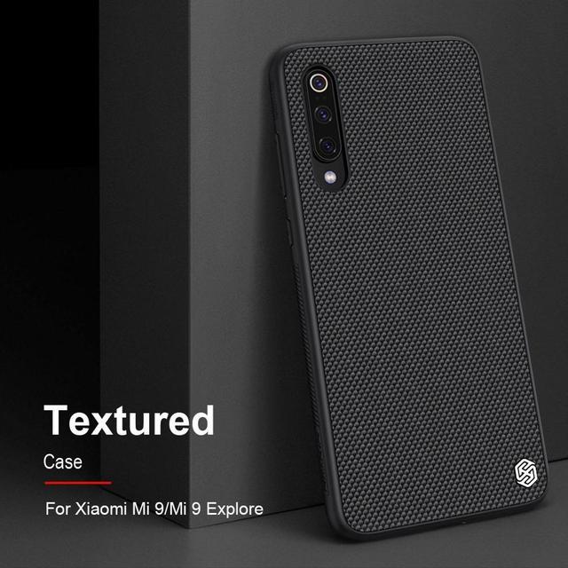 for Xiaomi Mi 9 case nylon fiber cover, original NILLKIN 3D textured case for Xiaomi Mi 9 mobile phone soft edge coque on