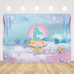 Mermaid Birthday Party Decoration Little Mermaid Party Background Decoration Birthday Party Decoration For Kids BR47