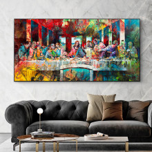 Leonardo Da Vinci's The Last Supper Canvas Paintings Abstract Famous Art Prints and Posters Wall Pictures for Living Room Decor