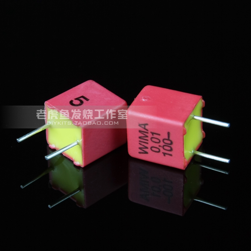 5pcs/50pcs 0.01uF 100V FKP2 Series WIMA 103/10n/0.01u New German Copper Foot Film Capacitor
