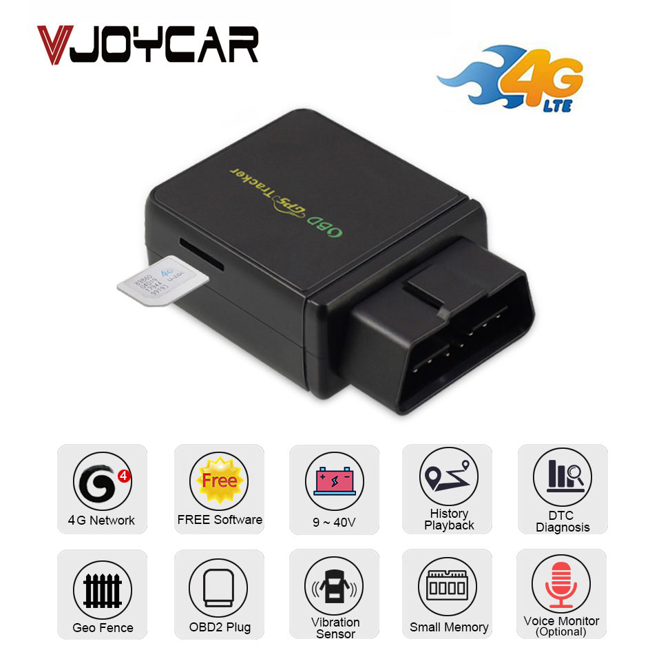 Real 2G 3G 4G GPS Tracker Car OBD Locator OBDii Diagnostic Tool DTC Code Voice Monitor Vibration Alarm Geo Real Time Tracking