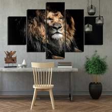 5 шт постер Лев с закрытыми глазами водостойкая чернильная декоративная