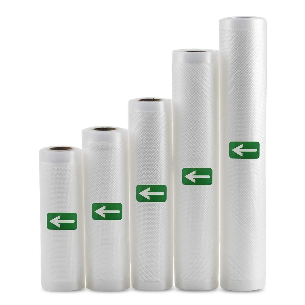 Vacuum Sealer Bags 5 Rolls/Pack Commercial Grade Food Saver Bags12+15+20+25+28x500cm