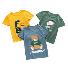 Summer Children T-Shirt Boys and Girls Cotton T-Shirts Baby Short Sleeve O-Neck Cartoon Pullover T Shirt Cute Children T-Shirt цена и фото