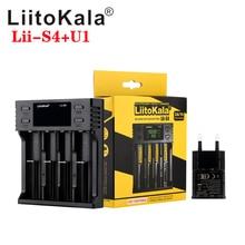 뜨거운 LiitoKala Lii S8 Lii S6 lii S2 lii S4 Lii S1 더블 슬롯 18650 배터리 충전기 1.2V 3.7V 3.2V AA/AAA 26650 21700 NiMH l