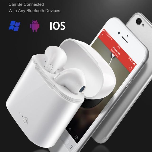 i7s TWS Wireless Earpiece Bluetooth 5.0 Earphones Headphones  Earbuds Headset Earphone For smart Phone Xiaomi Samsung Huawei 6