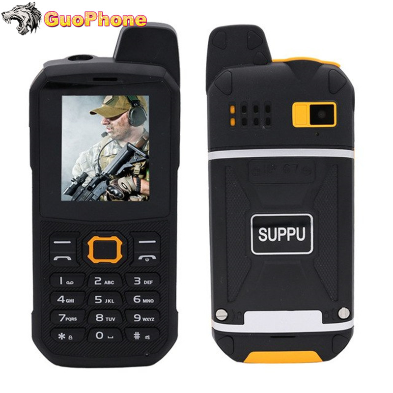 F68 IP67 WaterProof Power Bank Mobile Phone 2.2