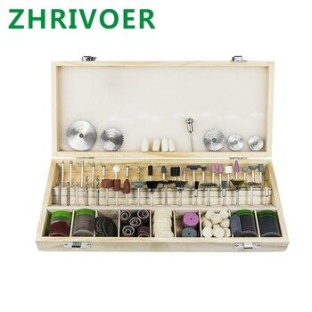 цена на 242 pieces of wood box set of electric grinder accessories electric grinding head cutting, polishingand grinding headcombination