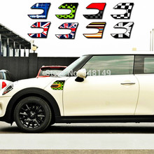 Купить с кэшбэком Etie 2 X Reflective Car Stickers Wholesale Fender Decal Section Side Scuttles for MINI COOPER F56
