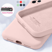 Liquid Silicone Candy Soft Cases For iPhone 11 12 Pro SE 2020 XS Max 6 S 7 8 Plus X XR 11 Pro Original Camera Protector Cover