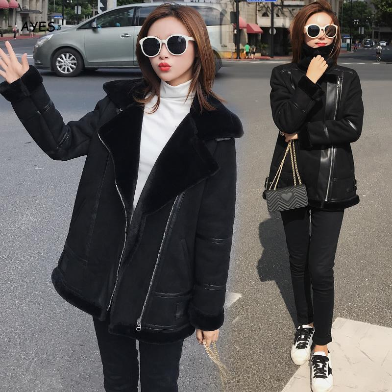 Black Coats Women Casual   Jacket   Coat Fashion Simple High Street Slim 2019 Winter Warm Thicken   Basic     Jacket   Tops Female Outwear
