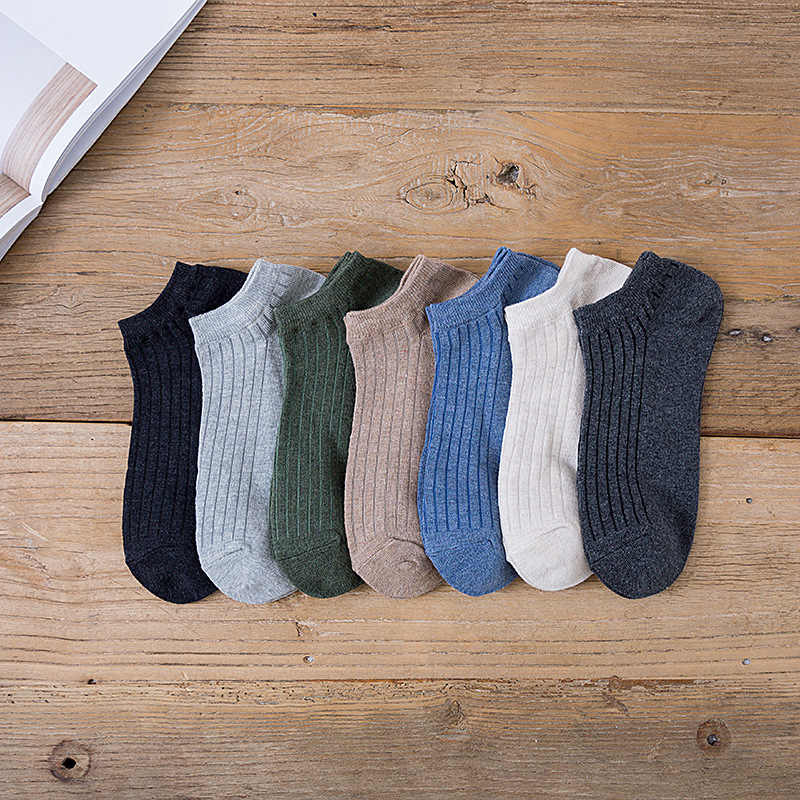 New Casual Wild Men  Boat Socks Breathable Casual Shallow Mouth Short Neutral Cotton Socks