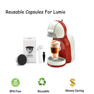 Capsule-Cup Dolce Gusto Stainless-Steel Reusable Coffee Nescafe for Lumio Compatible