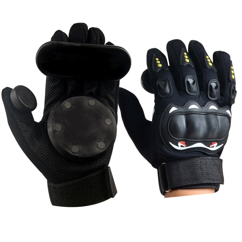 Longue planche gants planche à roulettes tourner glissière autoroute conseil gants descente frein gants silex curseur