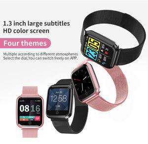 Image 5 - Femmes montre intelligente IP68 étanche smartwatch moniteur de fréquence cardiaque Sport Fitness montre appareils portables pour ios Android cadeau sangle