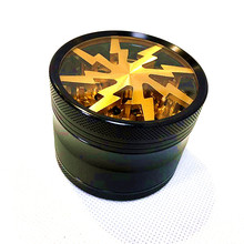 Lightning Big Herb Grinder Weed Grinder 4 Layer 63mm Wiet Crusher Tobacco Smoke Weed Accessories цена