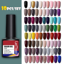 6/10Pcs LEMOOC 8ml UV Gel Polish Set Nail Kits New Design