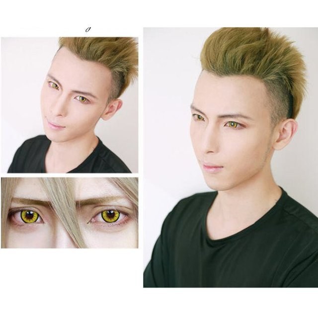 One Pair/set Charming Eyes Unisex Coloured Circle Big Eye Beauty Contact Lenses Cosmetic Beauty Tool Contact Lenses Eye Wear