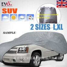 אוניברסלי מלא רכב מכסה שלג קרח אבק שמש UV צל כיסוי אור כסף גודל L XL אוטומטי רכב מקרה חיצוני מגן כיסוי DFDF