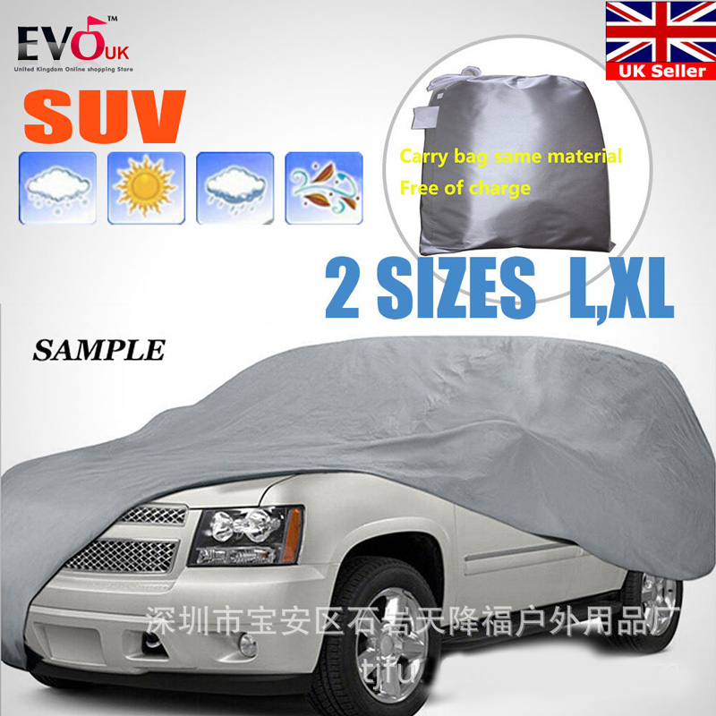 Universal Full Car Covers Snow Ice Dust Sun UV Shade Cover Light Silver Size L-XL Auto Car Case Outdoor Protector Cover DFDF
