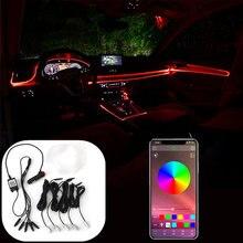 Luz de ambiente decorativo para coche, luz Flexible de neón para Citroën C4 Picasso Berlingo Xsara C5 C3 Saxo C2 C1 C4L DS3 Xantia 2 DS4