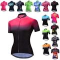 Женская велосипедная рубашка Weimostar, велосипедная форма с коротким рукавом, MTB, велосипедная майка, летняя велосипедная рубашка
