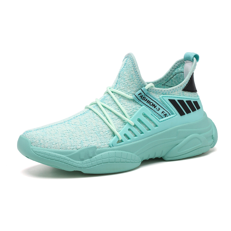 Men Running Shoes New Flying Woven Sneakers Mesh Breathable Light Weight Fashion Sports Shoes Male Walking Jogging Footwear