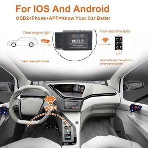 Image 2 - V1.5 ELM327 Car WIFI OBD 2 OBD2 OBDII Scan Tool Foseal Scanner Adapter Check Engine Light Diagnostic Tool for iOS Android