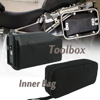 For BMW R1200GS LC R1200 GS R 1200GS Adventure 2013-2019 Waterproof Left side Toolbox Inner Bag Decorative Plastic Tool Box Bag for bmw r1200gs lc adventure tool box decorative box toolbox 5 liter for left side bracket r1200 gs gsa 2014 2015 2016 2017 2108