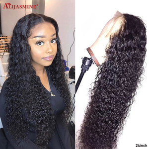 Allove Straight Lace Front Human Hair Wigs Remy 360 Lace Frontal Wig 13X4 13X6 Brazilian Straight Lace Front Wig 250 Density(China)