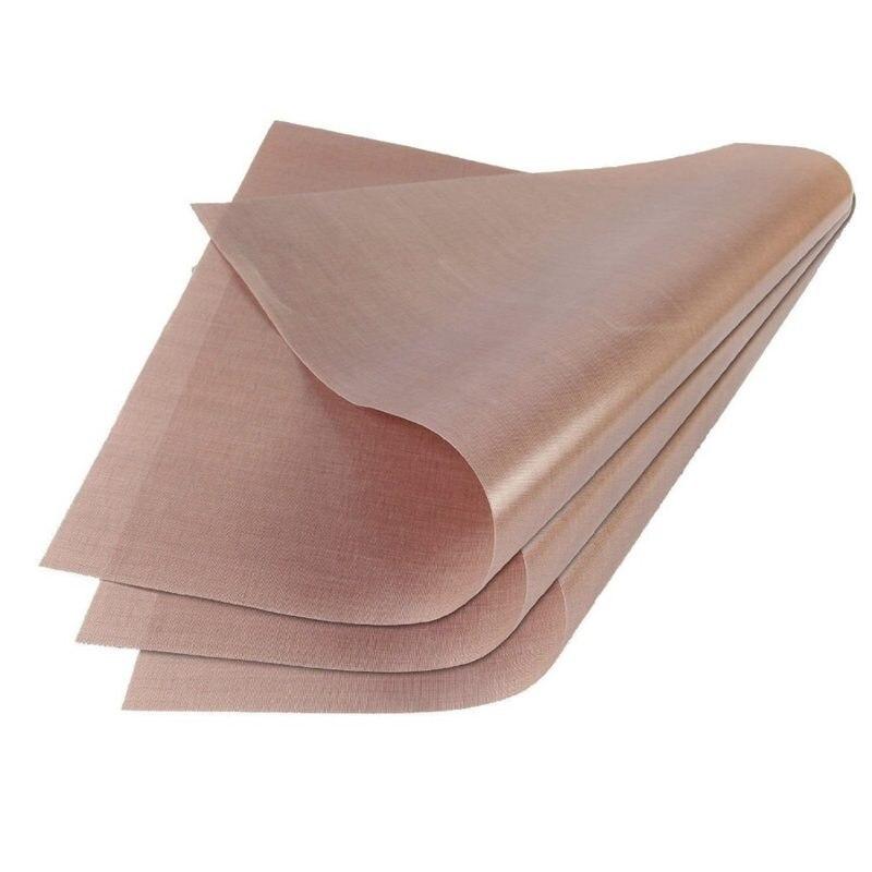 6Pcs Teflon Sheet 40X60Cm Reusable Resistant Baking Mat Oil-Proof Paper Baking Oven Tool Non-Stick For Bbq