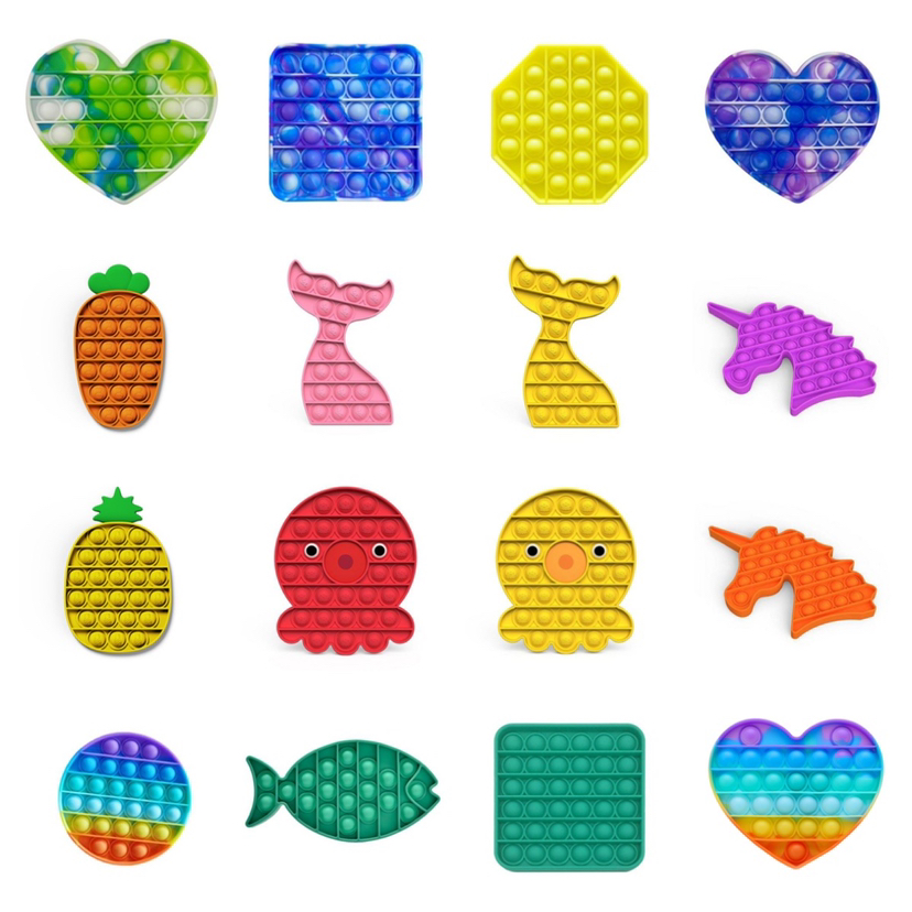 Popit Пузырьковые игрушки-антистресс ананас, игрушки для снятия стресса, настольные Развивающие игрушки для снятия стресса, игрушки для сняти...