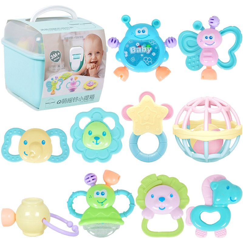 10PCS/SET Baby Toys Hand Hold Jingle Shaking Bell Lovely Hand Shake Bell Ring Baby Rattles Toy Newborn Baby 0- 12 Months Teether