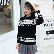 2019 autumn winter children's clothes teenage girls knitted thick top sweaters for girls big kids pullovers 6 8 10 12 14 years 2018 spring autumn girls sweaters fashion cotton preppy kids knitwear sweater pullovers children clothes 4 6 8 10 12 13 years