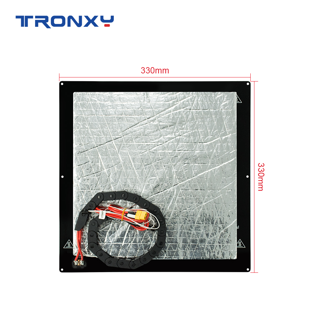 Tronxy 3D Printer Parts Accessories <font><b>Heat</b></font> <font><b>bed</b></font> kit <font><b>220</b></font>*220mm/255*255mm/330*330mm Standard Aluminum Plate Hotbed Belt Line image