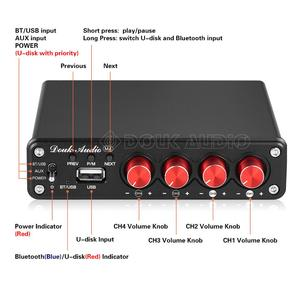 Image 3 - Nobsound HiFi Stereo Bluetooth 5.0 Power Amplifier Home 2 / 4 Channel Multi room Digital Audio Amp 50W×4