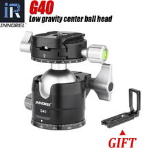 G34/G40 professionnel trépied rotule profil bas Center de gravité Double panoramique rotule avec L Q.R. Plaque pour appareils photo numériques