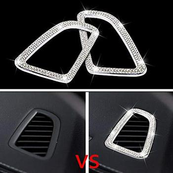 Fit for Mercedes Benz Bling Accessories for Women C Class GLC Car Interior Air Conditioning Outlet Bling Rhinestone 3D Decals