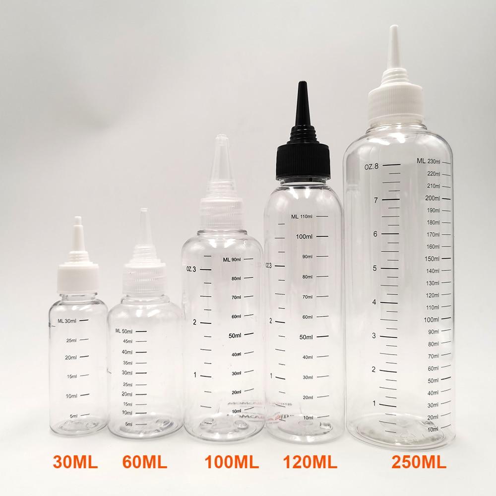 3pcs/Pack 30ml 60ML 100ml 120ml 250ML Capacity E-liquid Bottle Dropper Bottle With Scale E Juice Refill Bottles