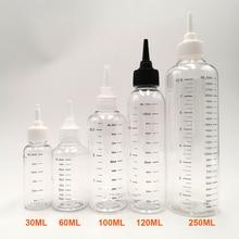 3pcs/Pack 30ml 60ML 100ml 120ml 250ML Capacity E-liquid Bottle Dropper Bottle with Scale E Juice Refill Bottles original iwodevape e cigarette diy tools star e liquid bottle 30ml 60ml 120ml transparent color 2 group
