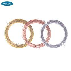 1 Uds cubierta de aleación de coche para marco de volante para bmw Rhinestone (oro rosa/plata/oro)