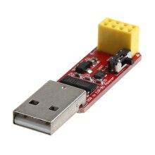 פתוח חכם USB כדי ESP8266 ESP 01 Wi Fi מתאם מודול w/ CH340G נהג