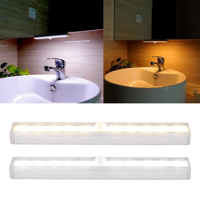 Купить pir светодиодный светильник с датчиком движения шкаф кровать картинки цена