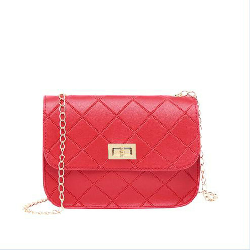 Women's Small Crossbody Handbag Quilted Purse Bag With Chain Shoulder Strap Envelope Crossbody Messenger Handbag Purse